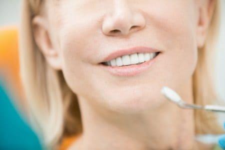 Teeth of patient